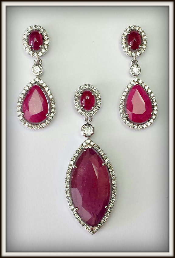 TJC Art Deco Inspired Ruby Collection