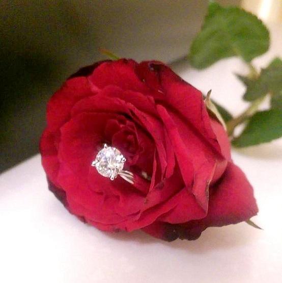Rose Engaegment Ring