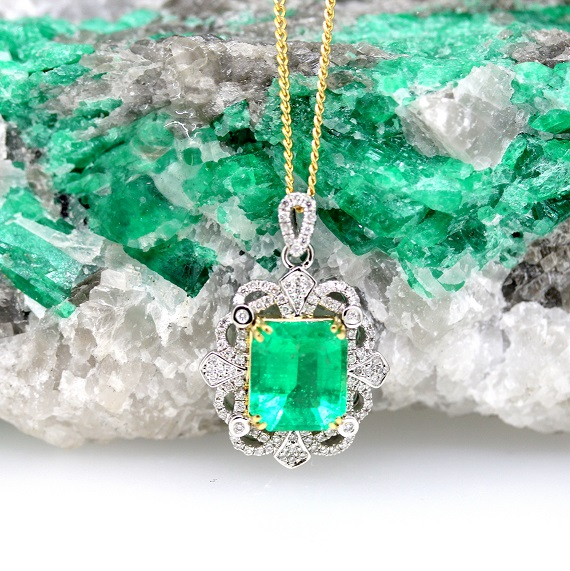 Antique Emerald Pendant