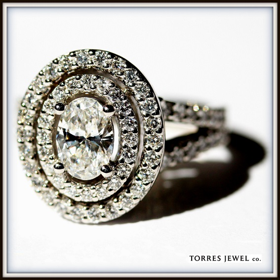 Oval Diamond Double Halo Diamond Ring Final Torres Jewel co