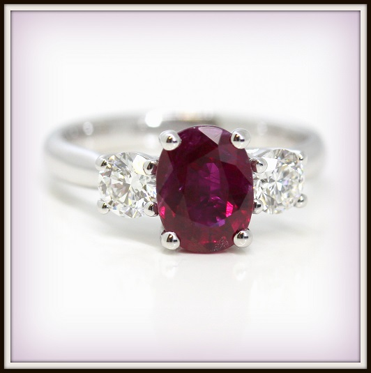 Diamond and Ruby Custom Ring Torres Jewel co Melbourne 2