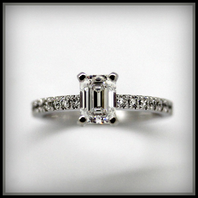Emerald cut diamond ring Melbourne Torres Jewel Co