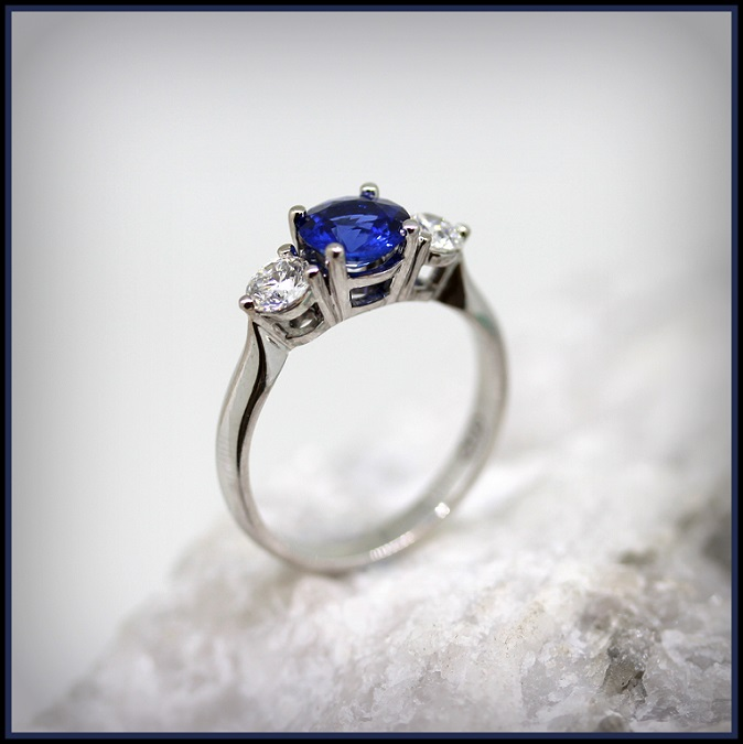 18ct White Gold Sapphire and Diamond set ring Torres Jewel Co 3